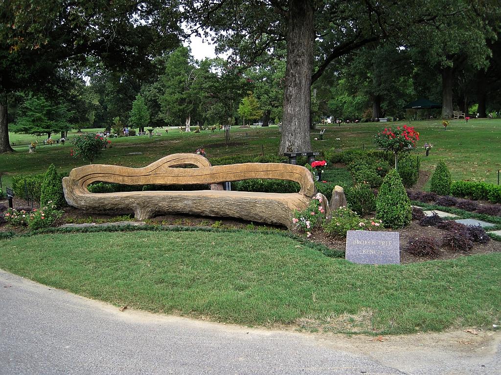 File Broken Tree Bench Dionicio Rodriguez Memorial Park Cemetery Memphis Tn