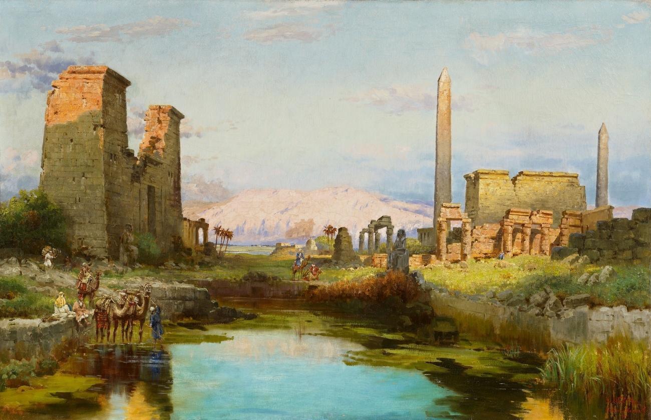 Carl Wuttke - Morgenstimmung am See von Karnak (1910).jpg