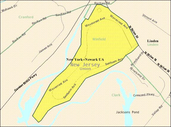Census Bureau map of Winfield Township, New Jersey
