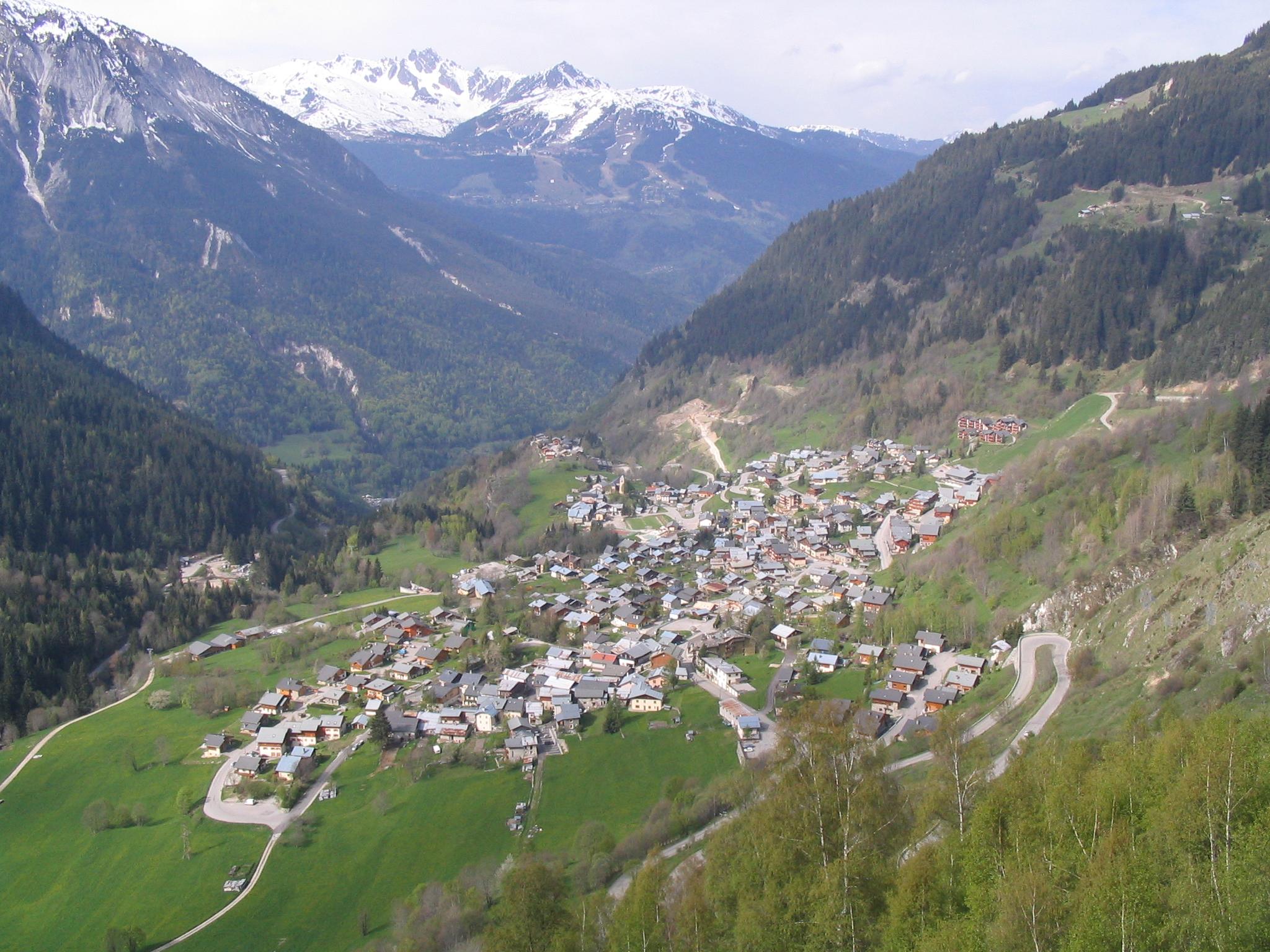 Champagny en Vanoise Carte Champagny-en-vanoise 1,250