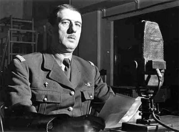 Charles de Gaulle micro BBC