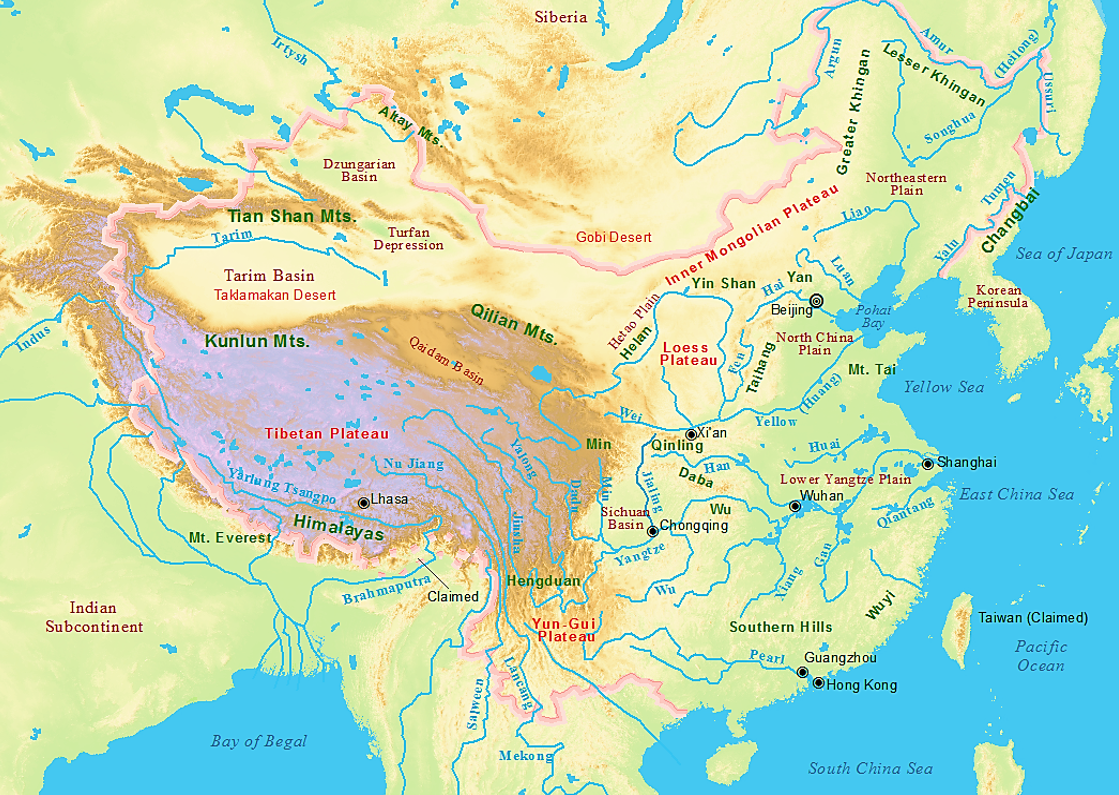 Tours The World Of Ancient Art - Huang river world map