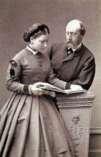 Princess Helena and Prince Christian, part of a series of photographs following their engagement in 1865 Christian and helena.jpg