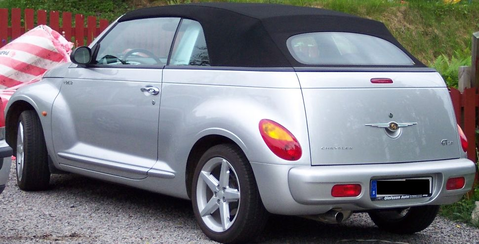 file chrysler pt cruiser cabrio silver wikimedia. Black Bedroom Furniture Sets. Home Design Ideas