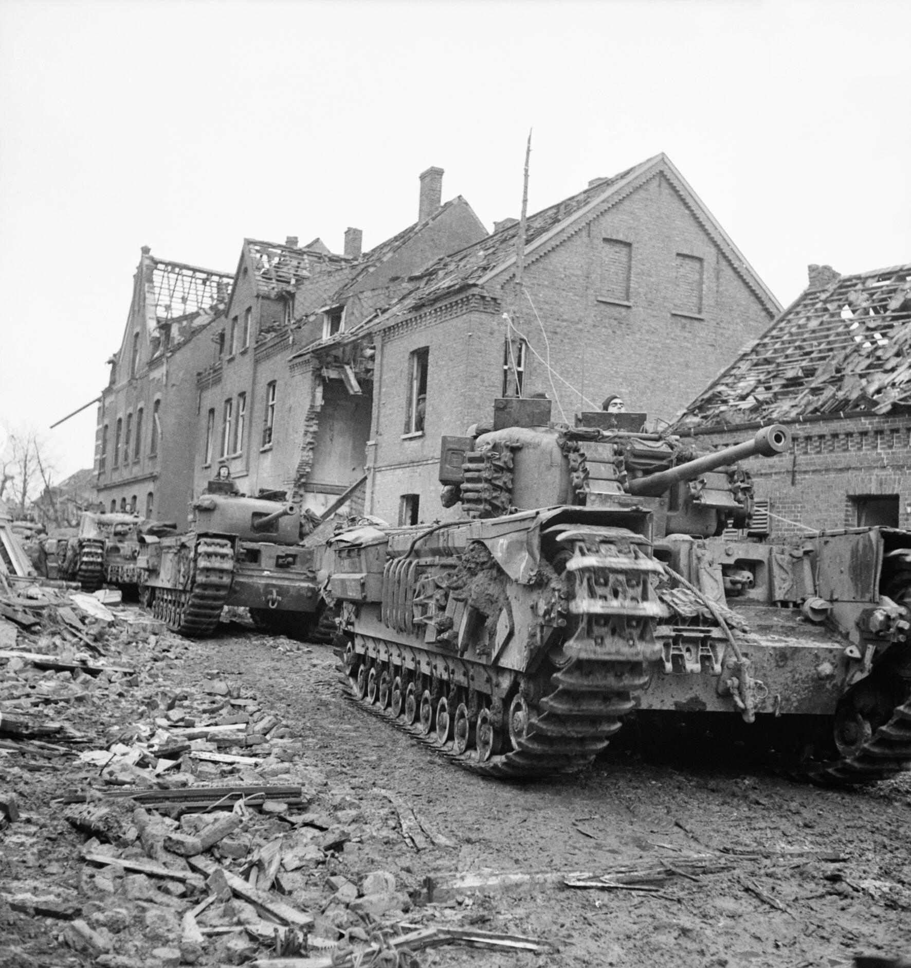 Churchill tanks in Kleve