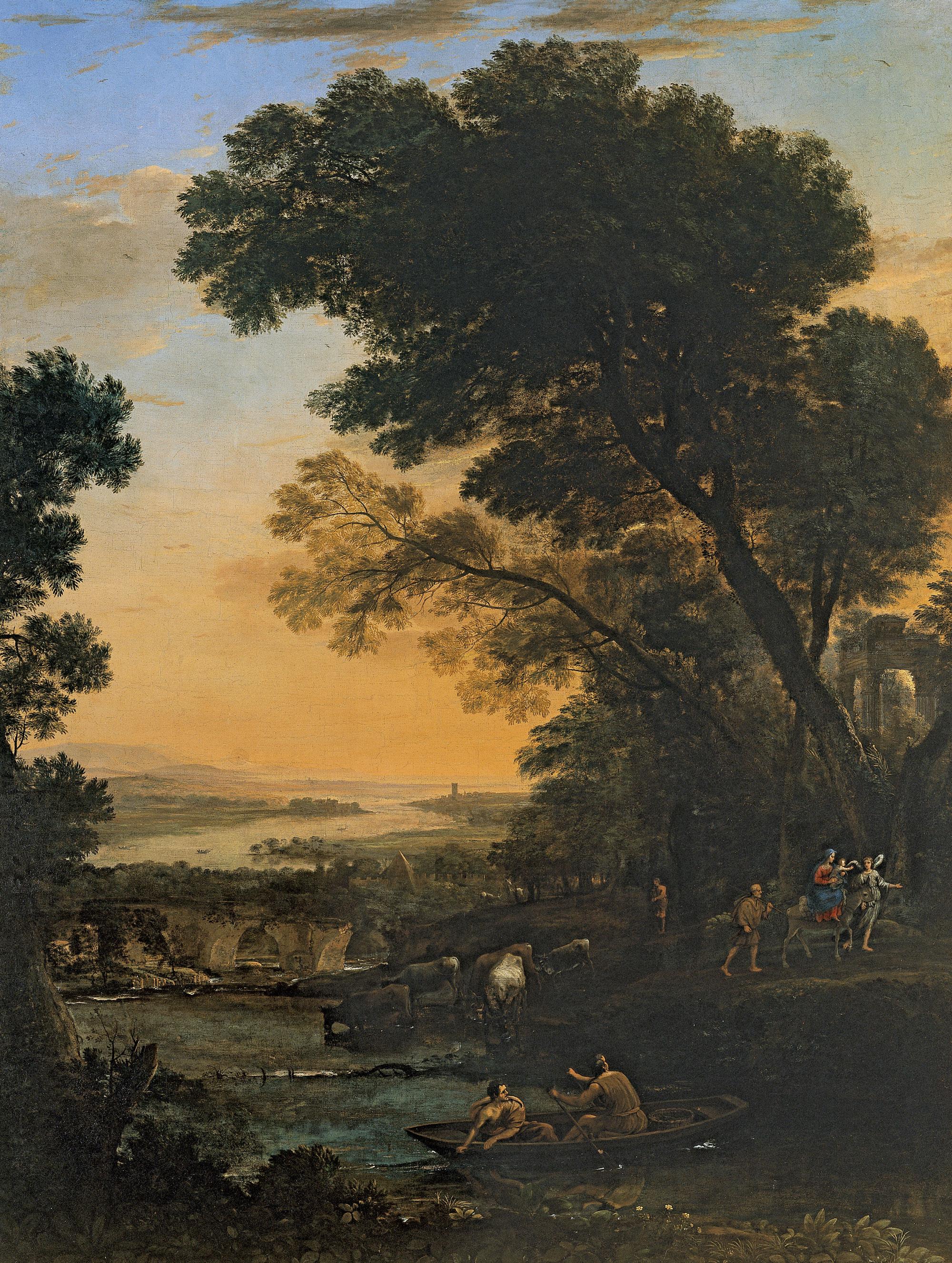 Paysage 2000 en ce qui concerne file:claude lorrain - paysage idyllique avec la fuite en Égypte
