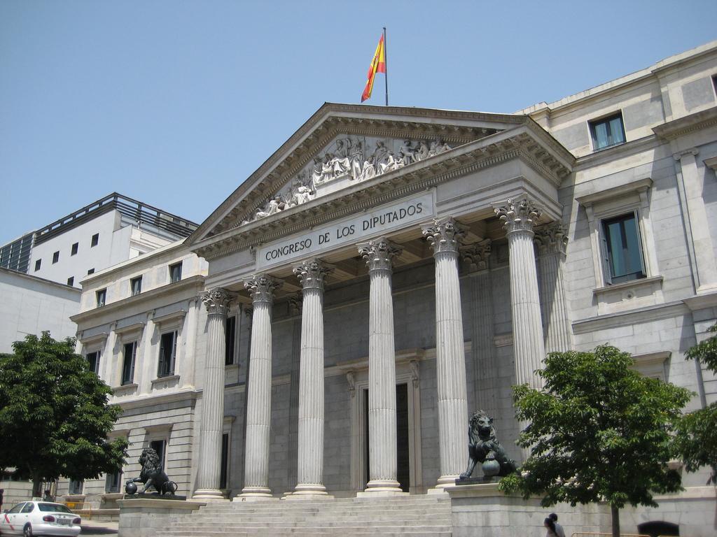 Depiction of Palacio de las Cortes