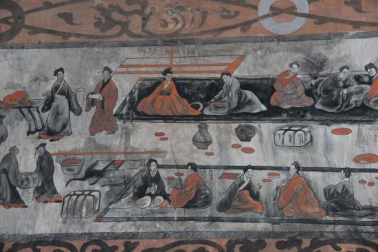File dahuting tomb mural banquet eastern wikipedia for Chinese mural painting