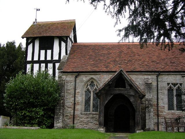 Photo of St Nicholas' parish church, Dormston, Worcestershire