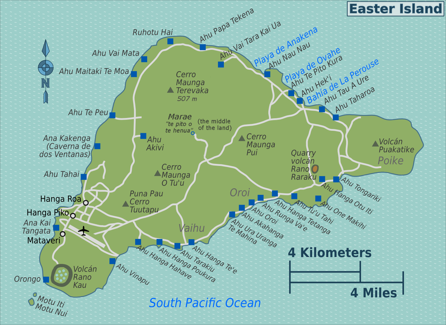 Easter Island Map File:Easter Island map.png   Wikimedia Commons Easter Island Map