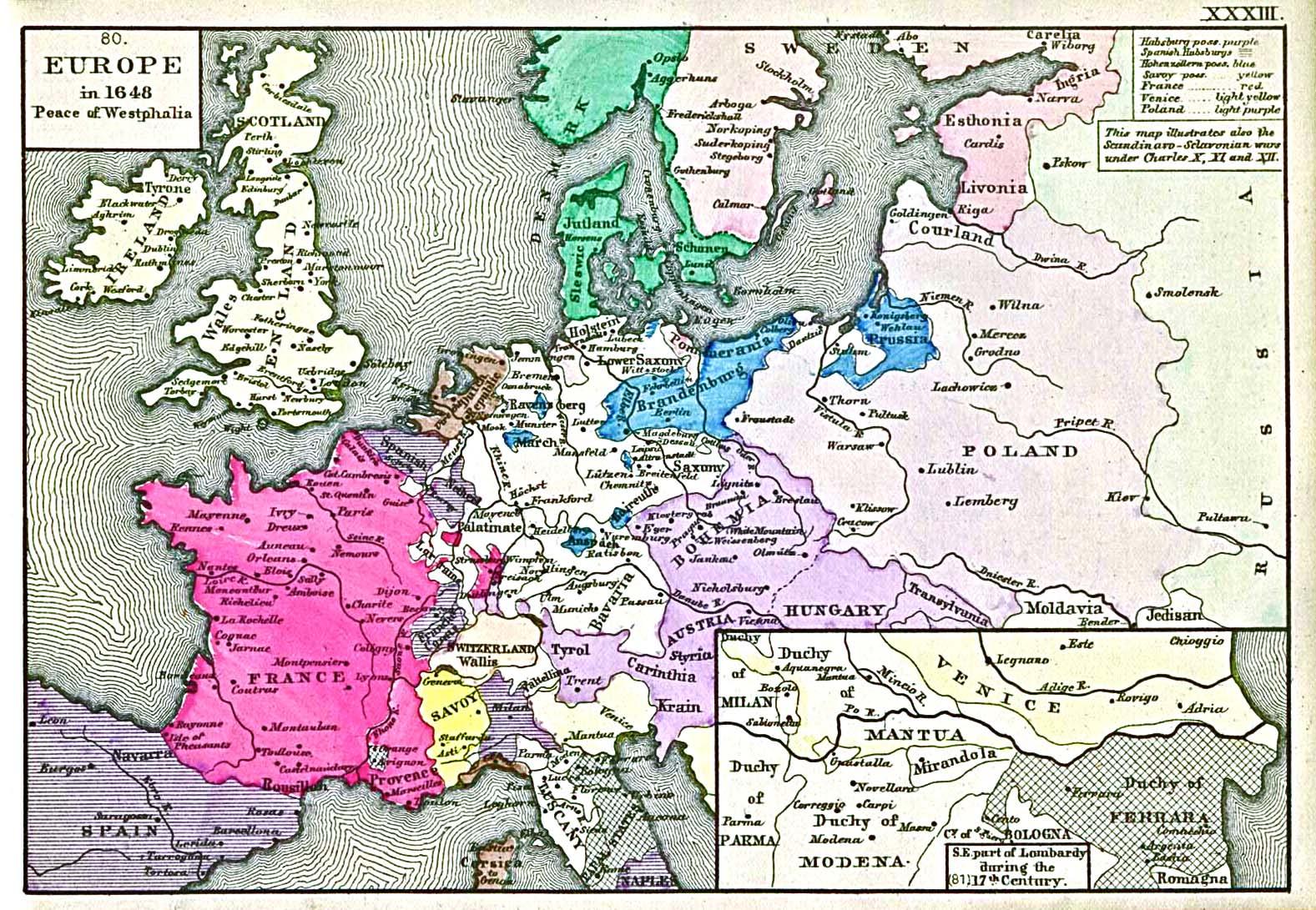 European state boundaries post-Westphalia.