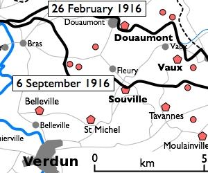 Fort Douaumont location map 300px