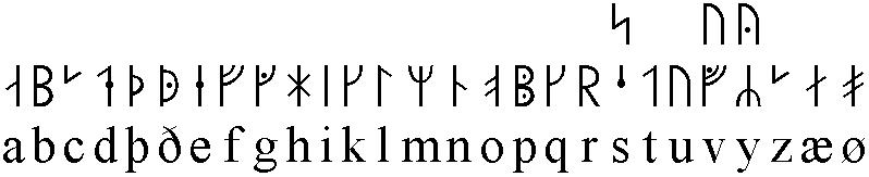 Cours de Runes n°3 [3eme année] Futhark_m%C3%A9di%C3%A9val_27