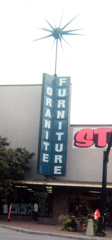 Revolving Granite Furniture Sign, Sugar House