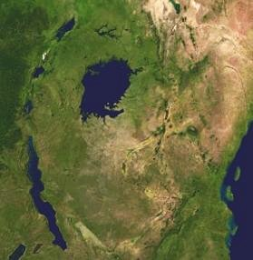 series of lakes in the Rift Valley