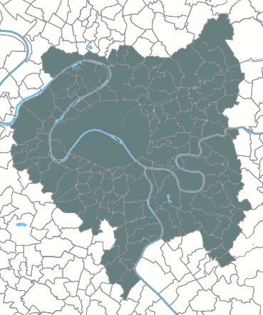 A map of the Greater Paris Metropolis (Metropole du Grand Paris) and its 131 communes Greater Paris Metropolis.png