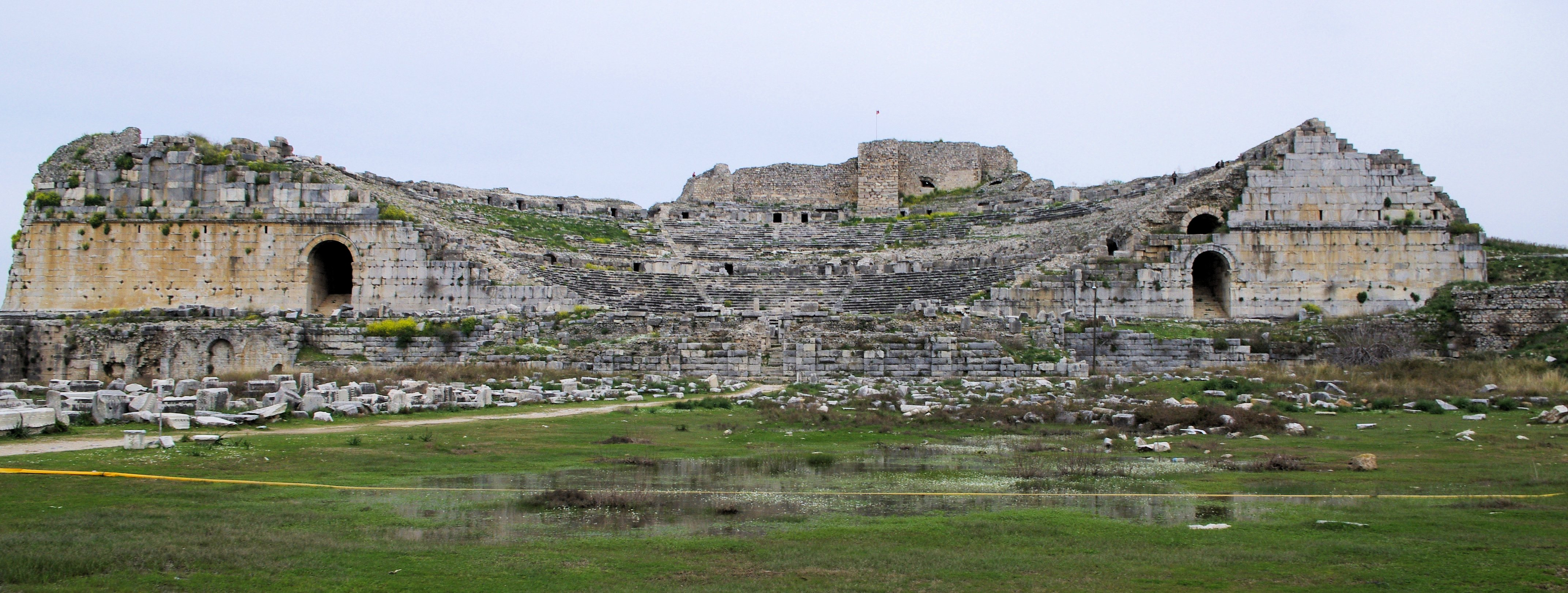 File:Grek Theater of Miletus and Byzantine fortress.jpg ...