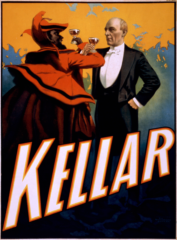 File:Harry Kellar toasts the Devil, performing arts poster