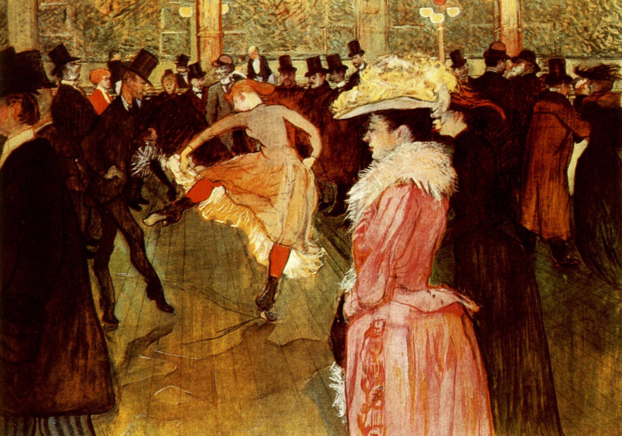 La Danse au Moulin-Rouge de Toulouse-Lautrec