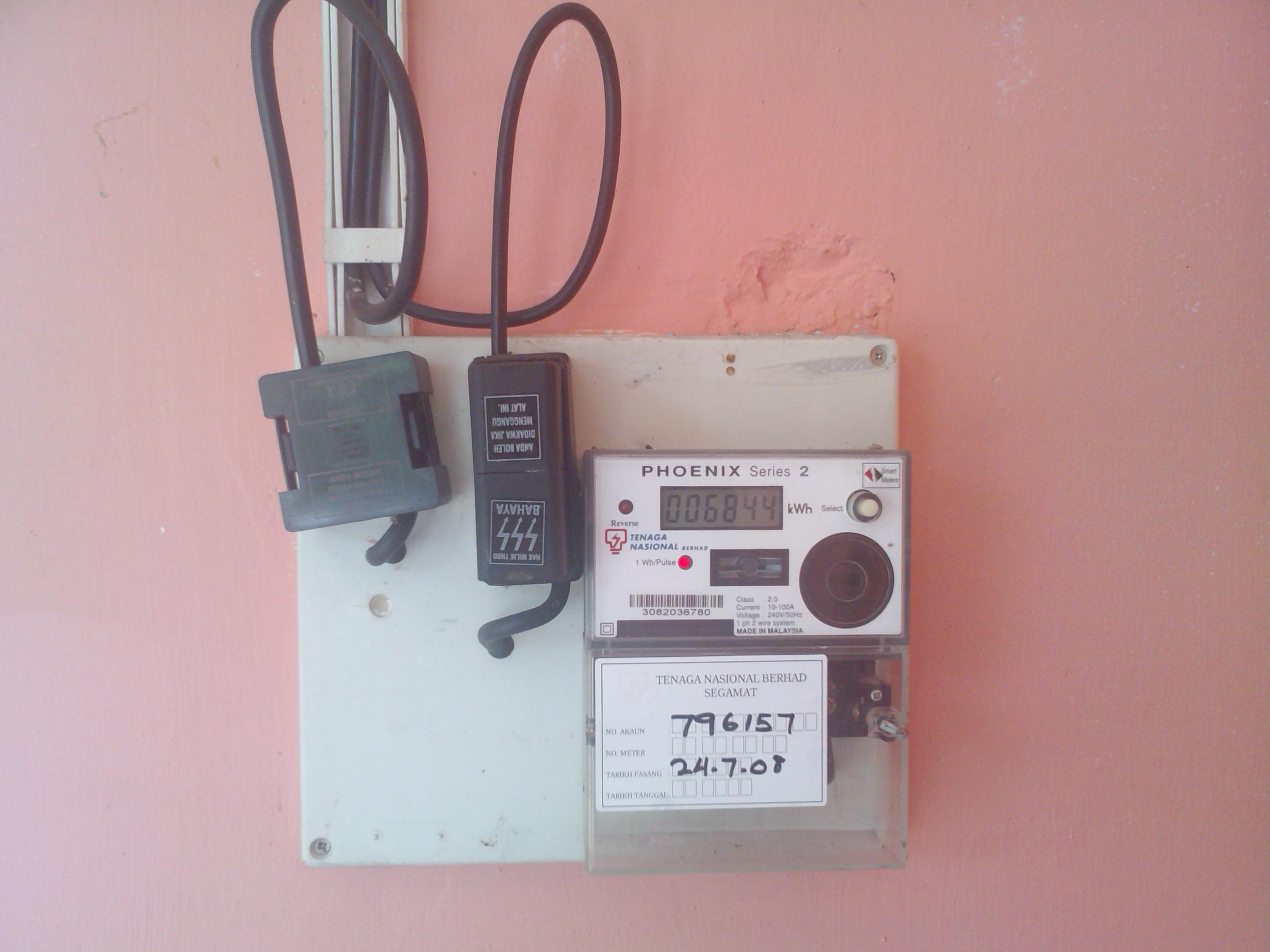 Meter Elektrik Wikipedia Bahasa Melayu Ensiklopedia Bebas Cara Membaca Wiring Diagram Ac