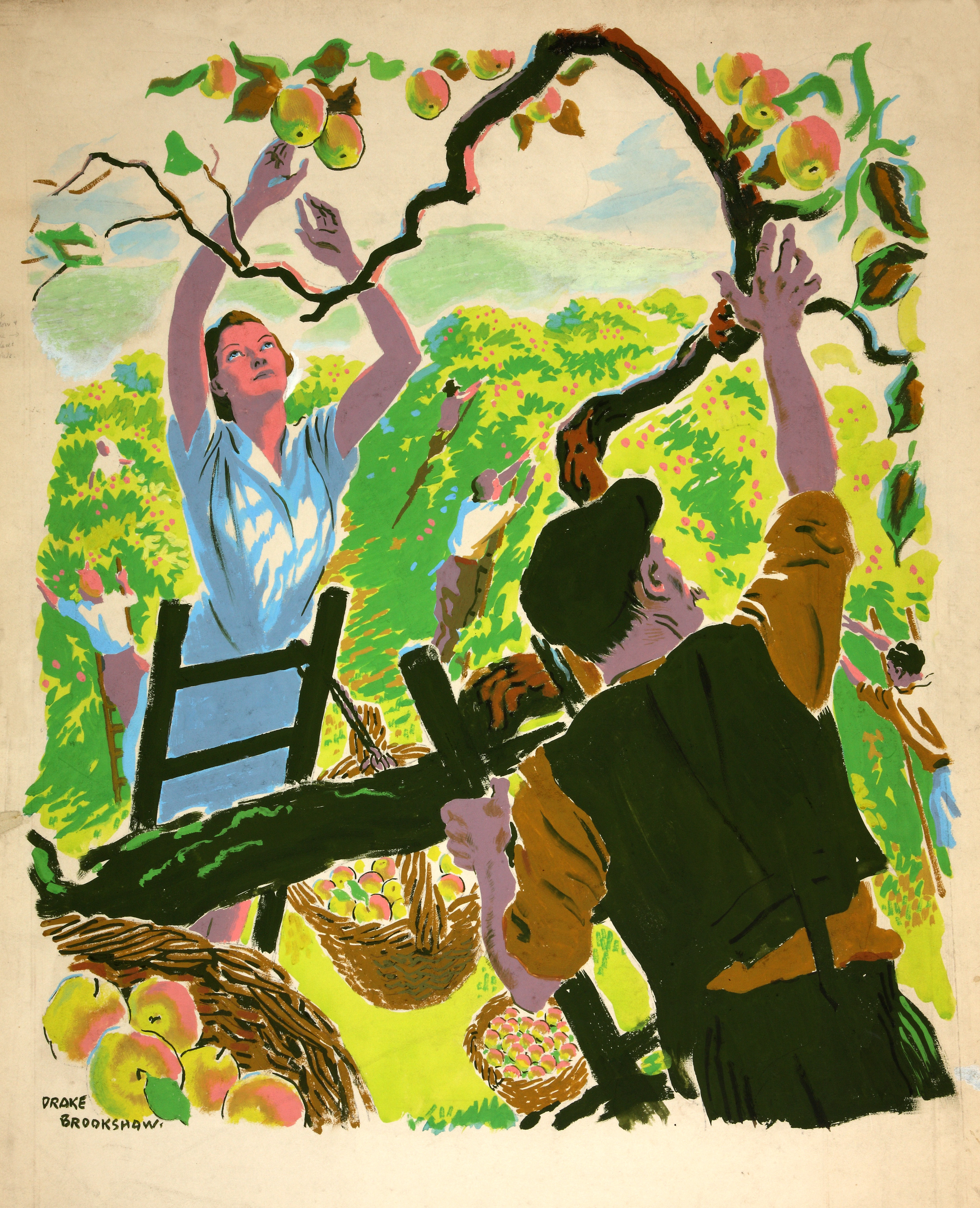duff nonsense the art of war  file inf3 109 food production apple picking artist drake brookshaw jpg