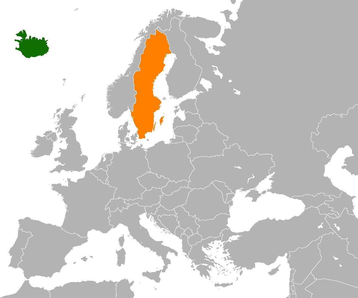 IcelandSweden Relations Wikipedia - Sweden france map