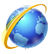 ملف:Icon - Blue globe with a gold orbit.png