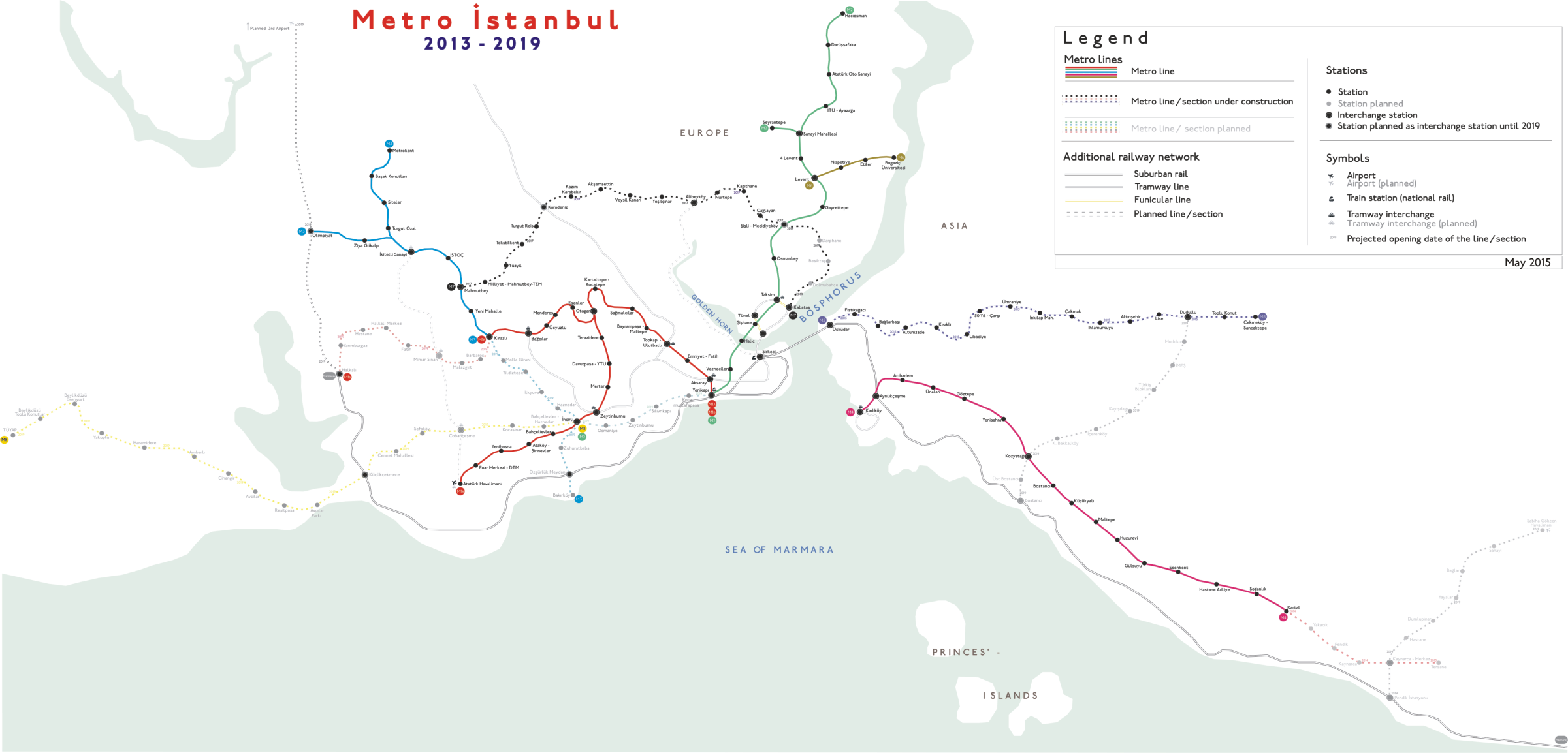 Istanbul Subway Map 2015.List Of Istanbul Metro Stations Wikipedia