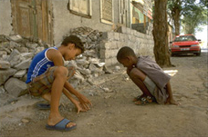 Two Cape Verdean children playing