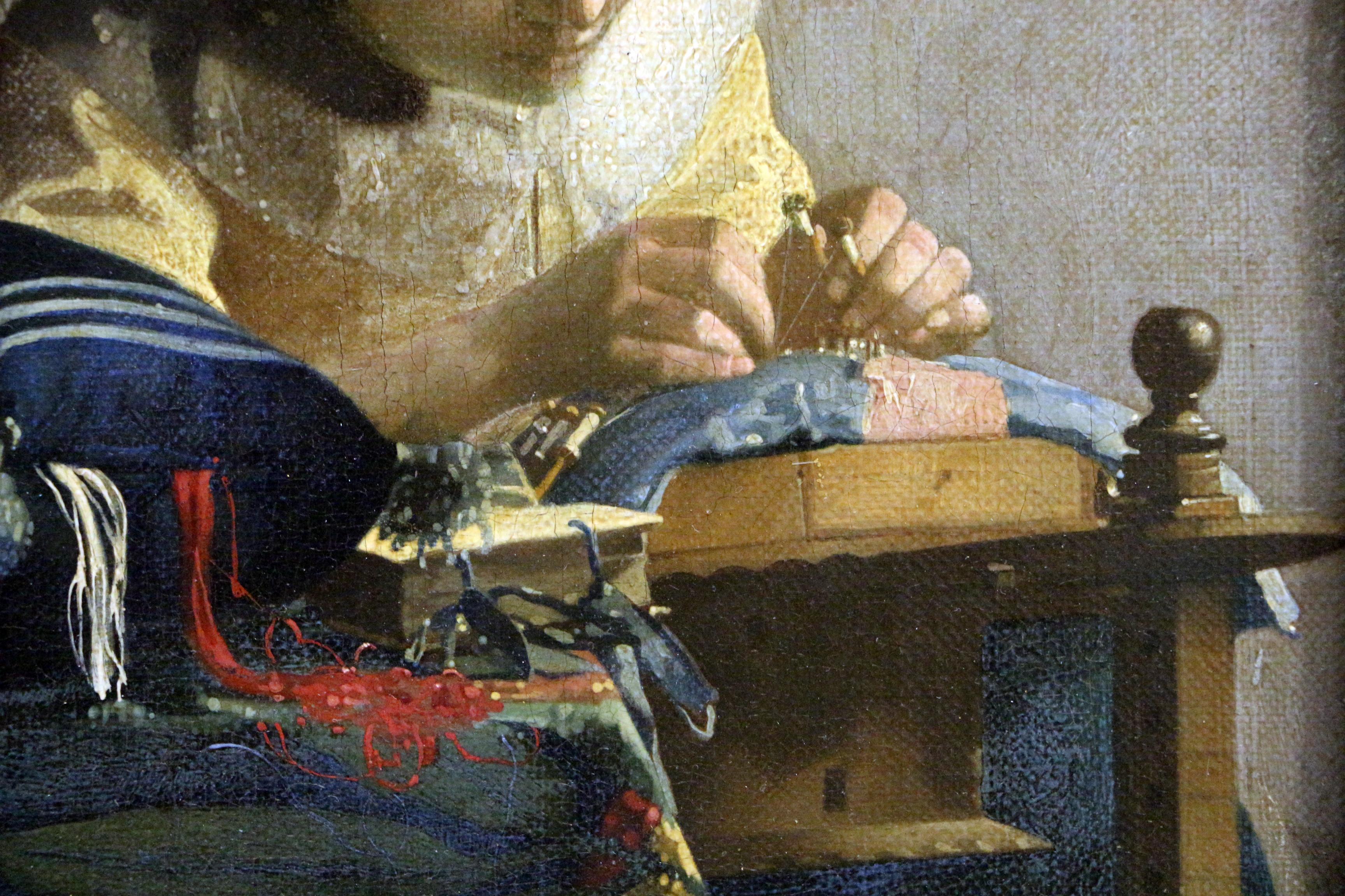 File:Johannes vermeer, la merlettaia (dentellière), 1669-70 ca.