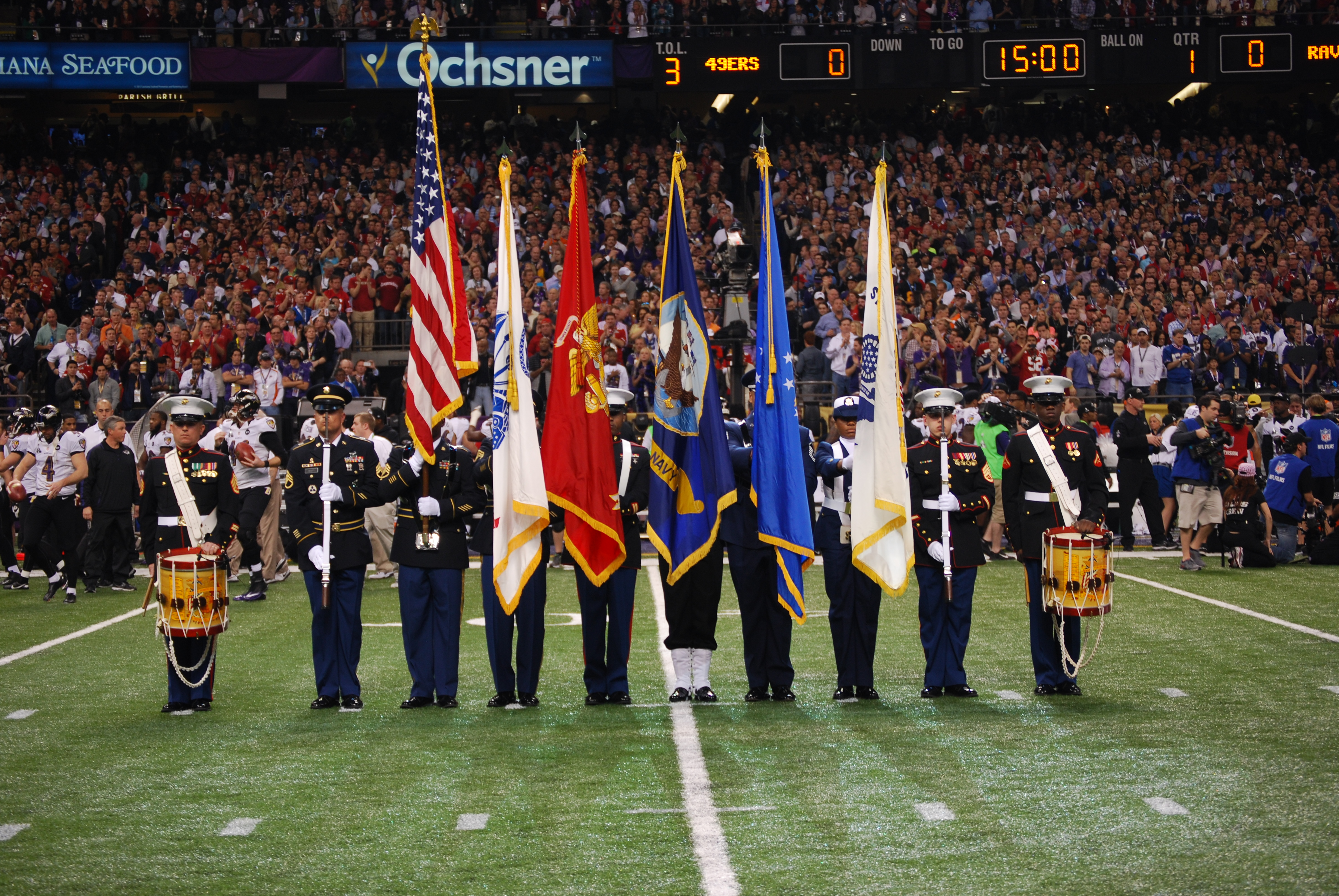 File:Joint Armed Forces Color Guard at Super Bowl XLVII.jpg ...