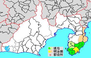 Kamo District, Shizuoka district in Shizuoka prefecture, Japan