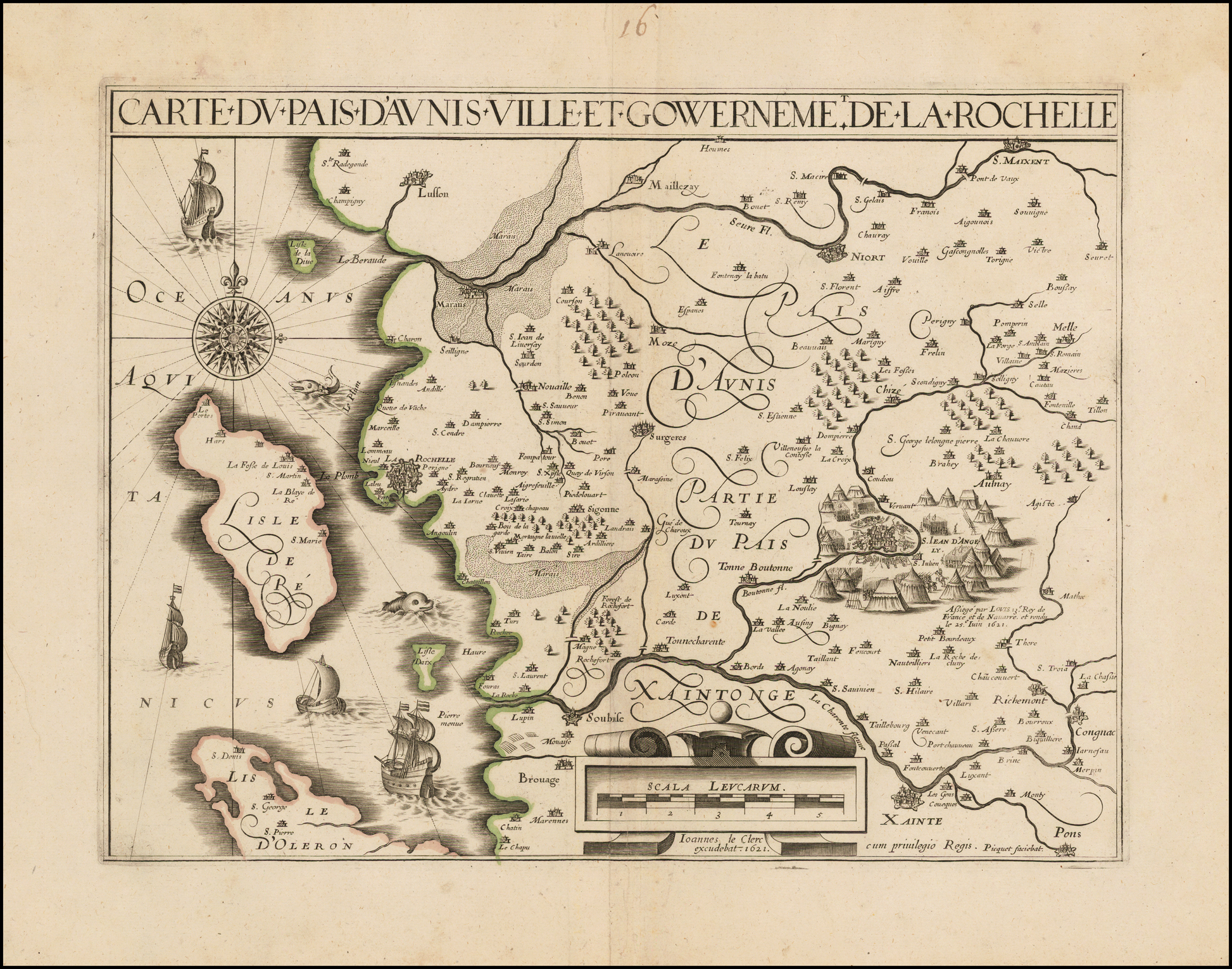 la rochelle karte File:Karte von La Rochelle und Umgebung (1621)   Jean Le Clerc.