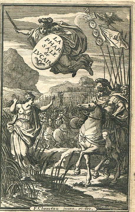 Engraved title page of a French edition of Lucan's ''Pharsalia'', 1657