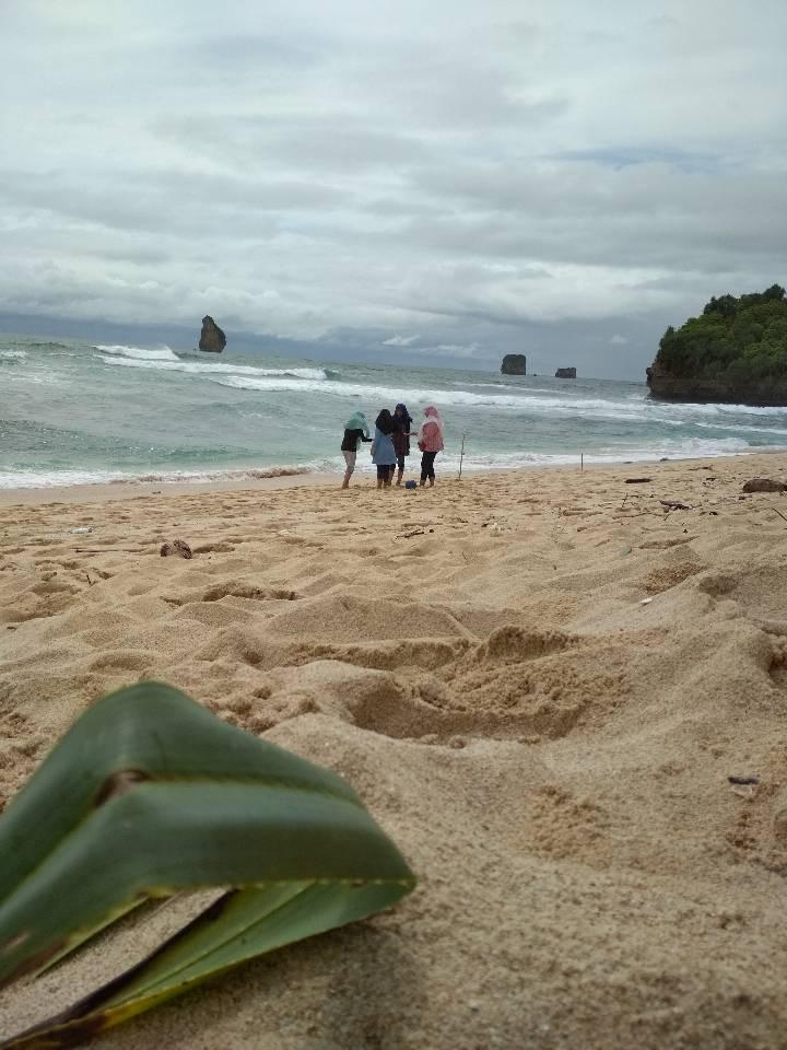 File:Main potong bebek angsa di Pinggir Pantai.jpg