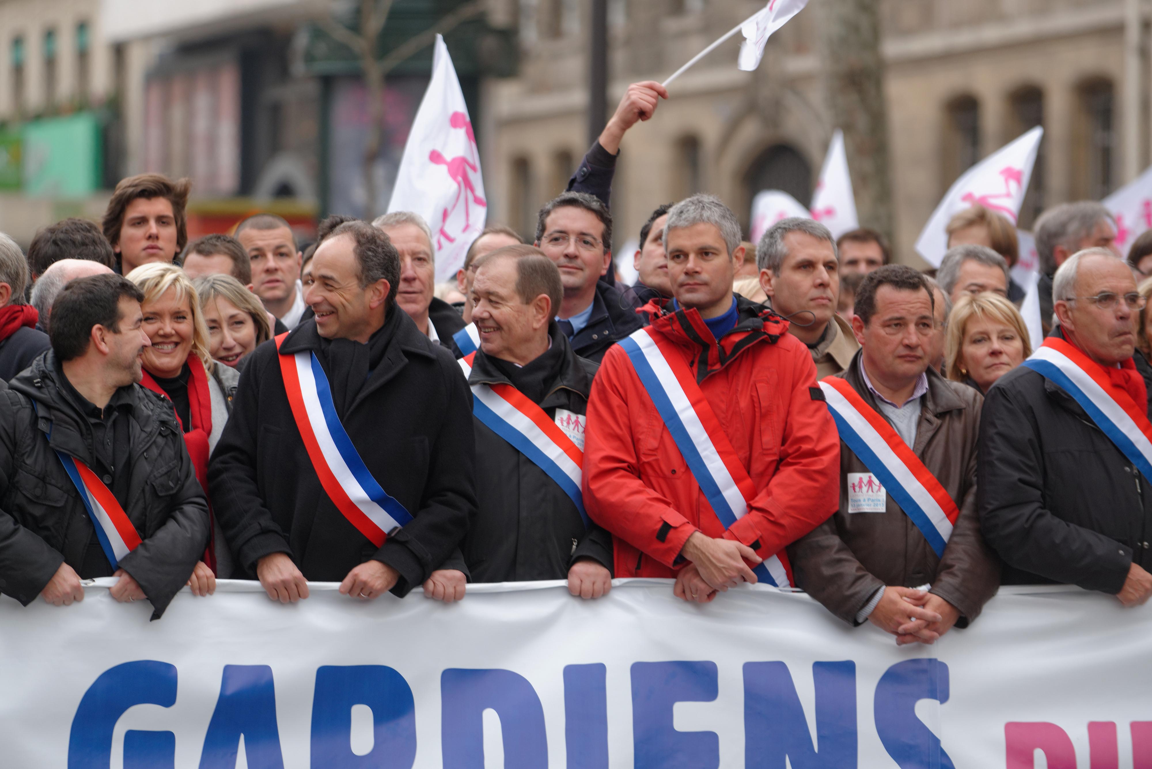 Manifestazione contro il matrimonio egalitario in Francia, 2013.