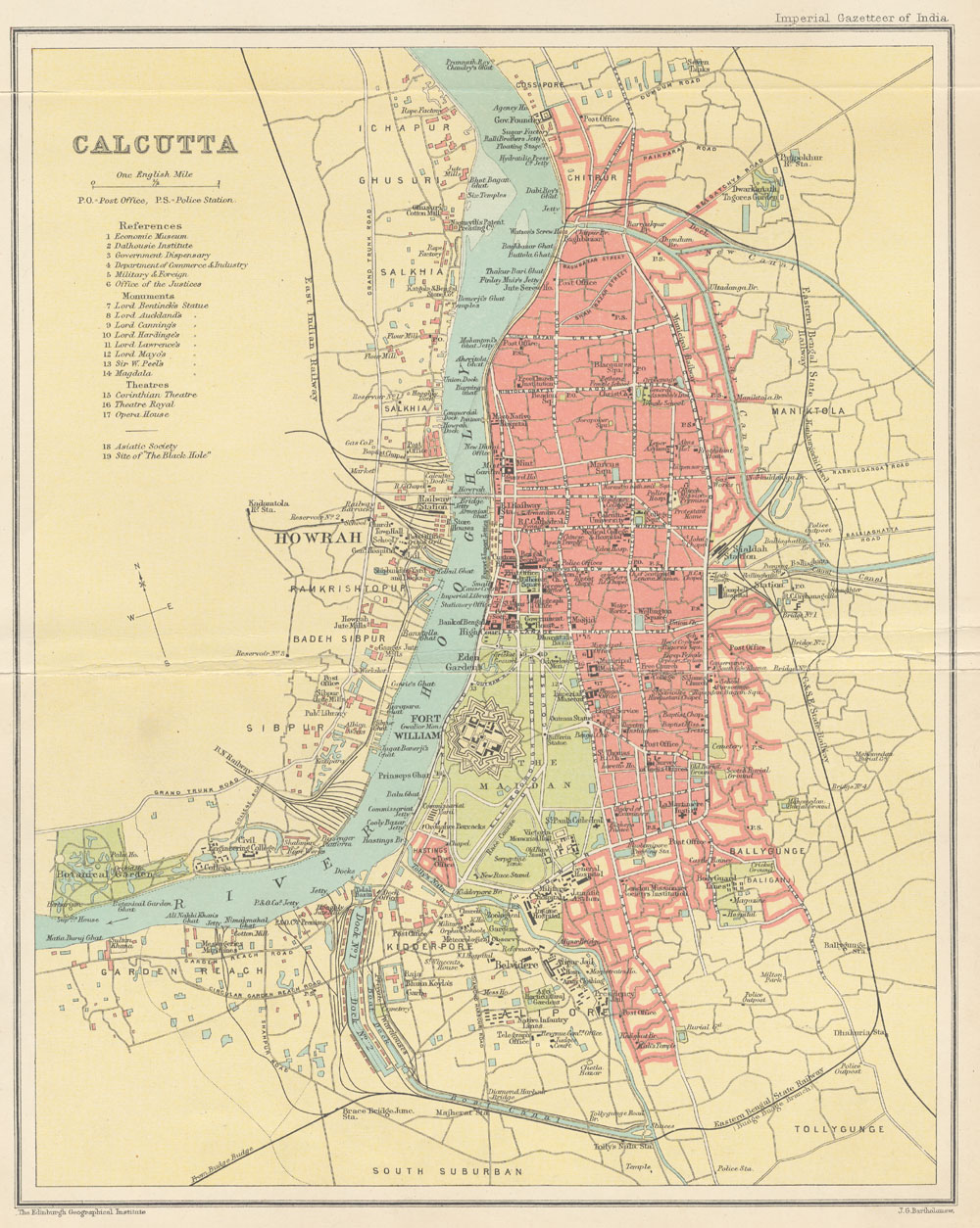 File:Map of Calcutta from The Imperial Gazetteer of India (1907-1909 ...