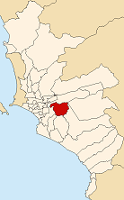 Location of La Molina in Lima Province