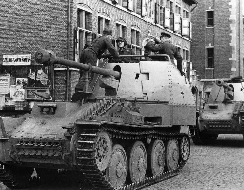 سلسة مدافع Marder النازية تاريخ طويل للنهاية Marder_III_tank_destroyer