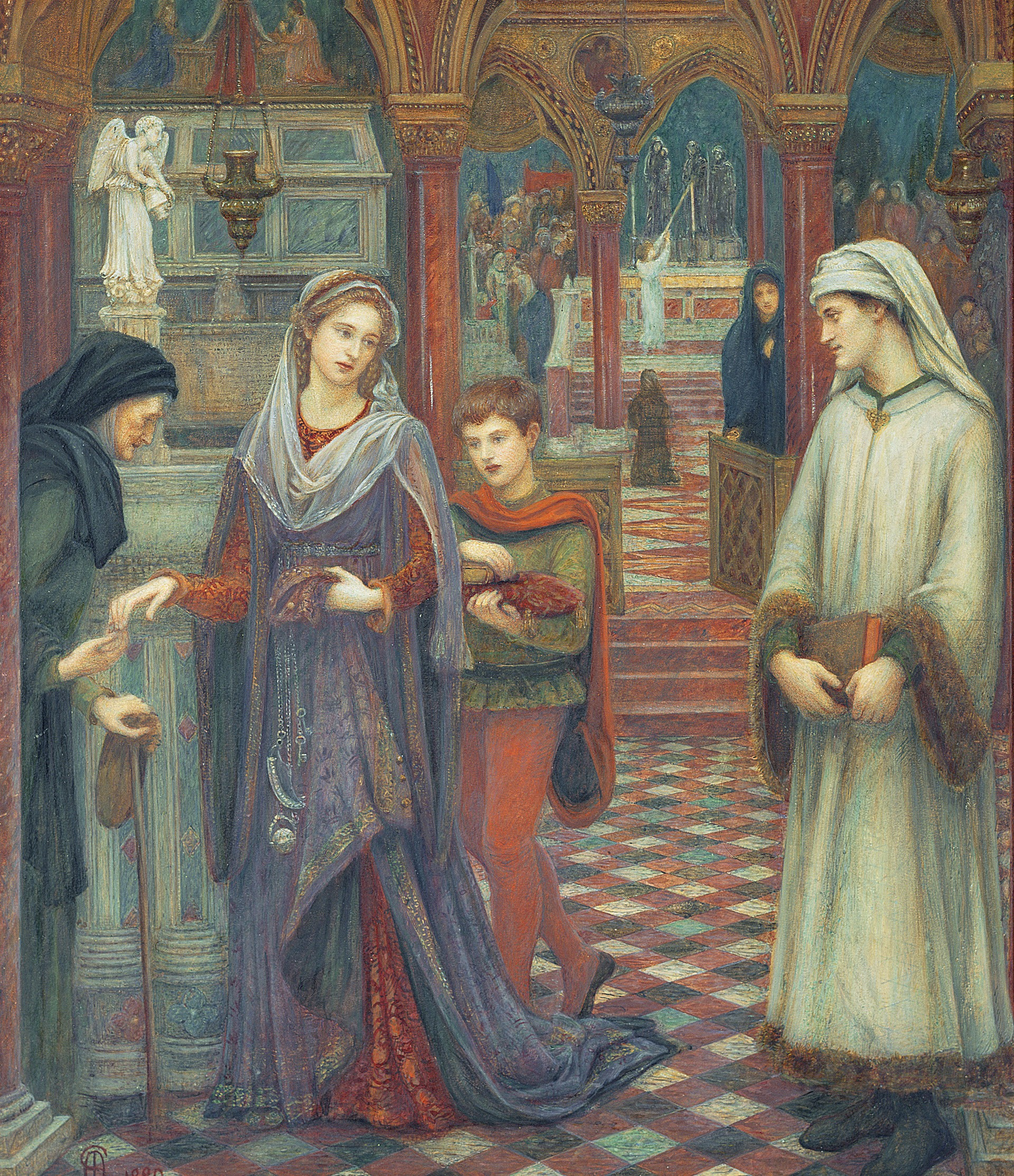 Marie Spartali Stillman - The First Meeting of Petrarch and Laura