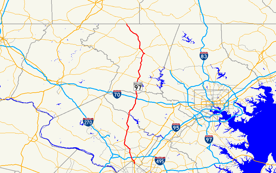 Maryland Route Wikipedia - Road map of maryland