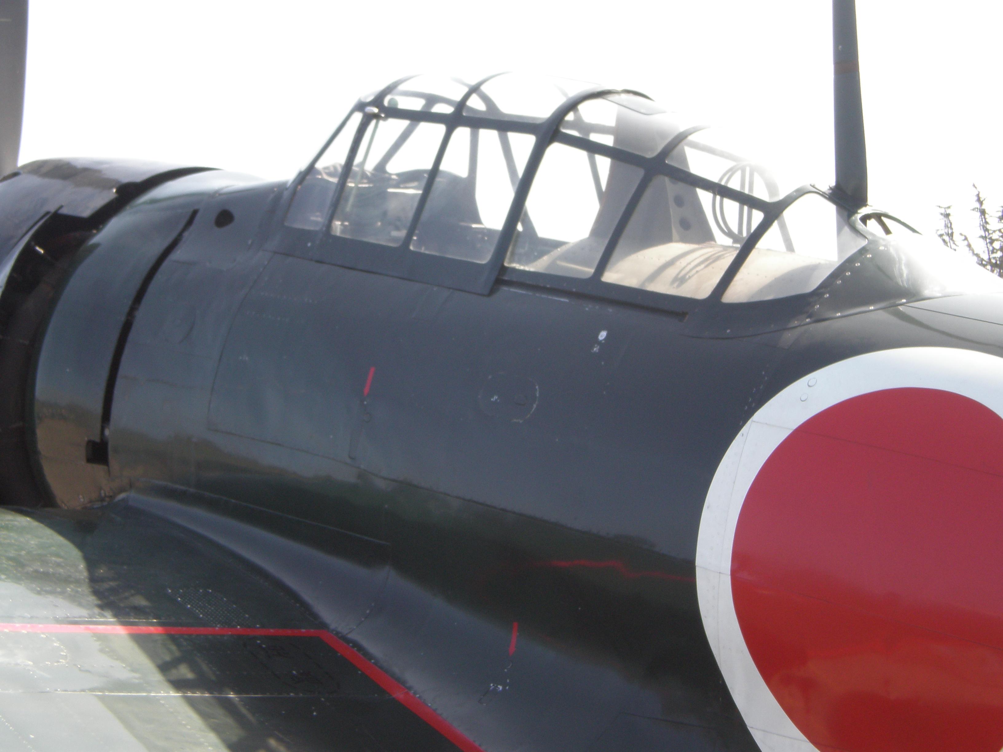 File:Mitsubishi A6M Zero X-133 cockpit.JPG