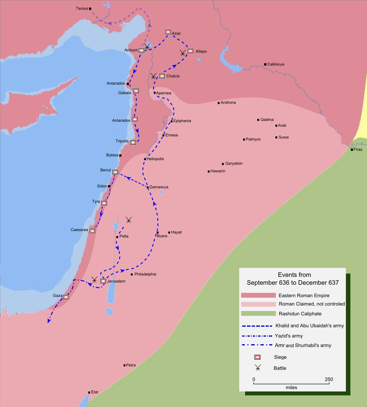 Muslim Map Of America 900.Siege Of Jerusalem 636 637 Wikipedia