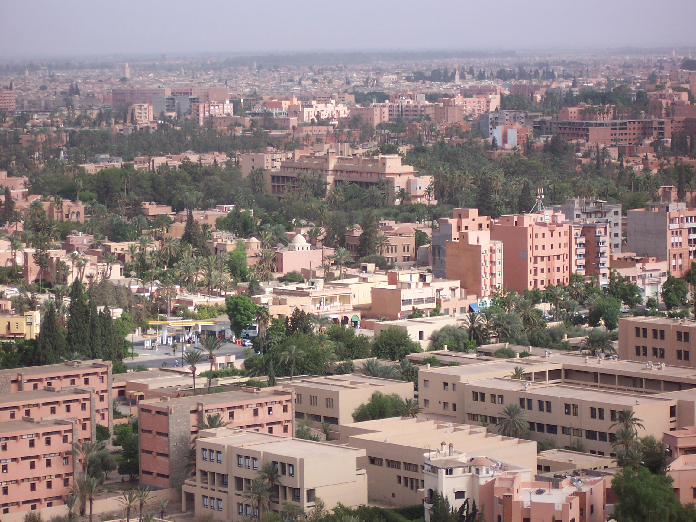 اكتشف المغرب في عشر دقائق  من أمواج الاندلس MoroccoMarrakech_townfromhill