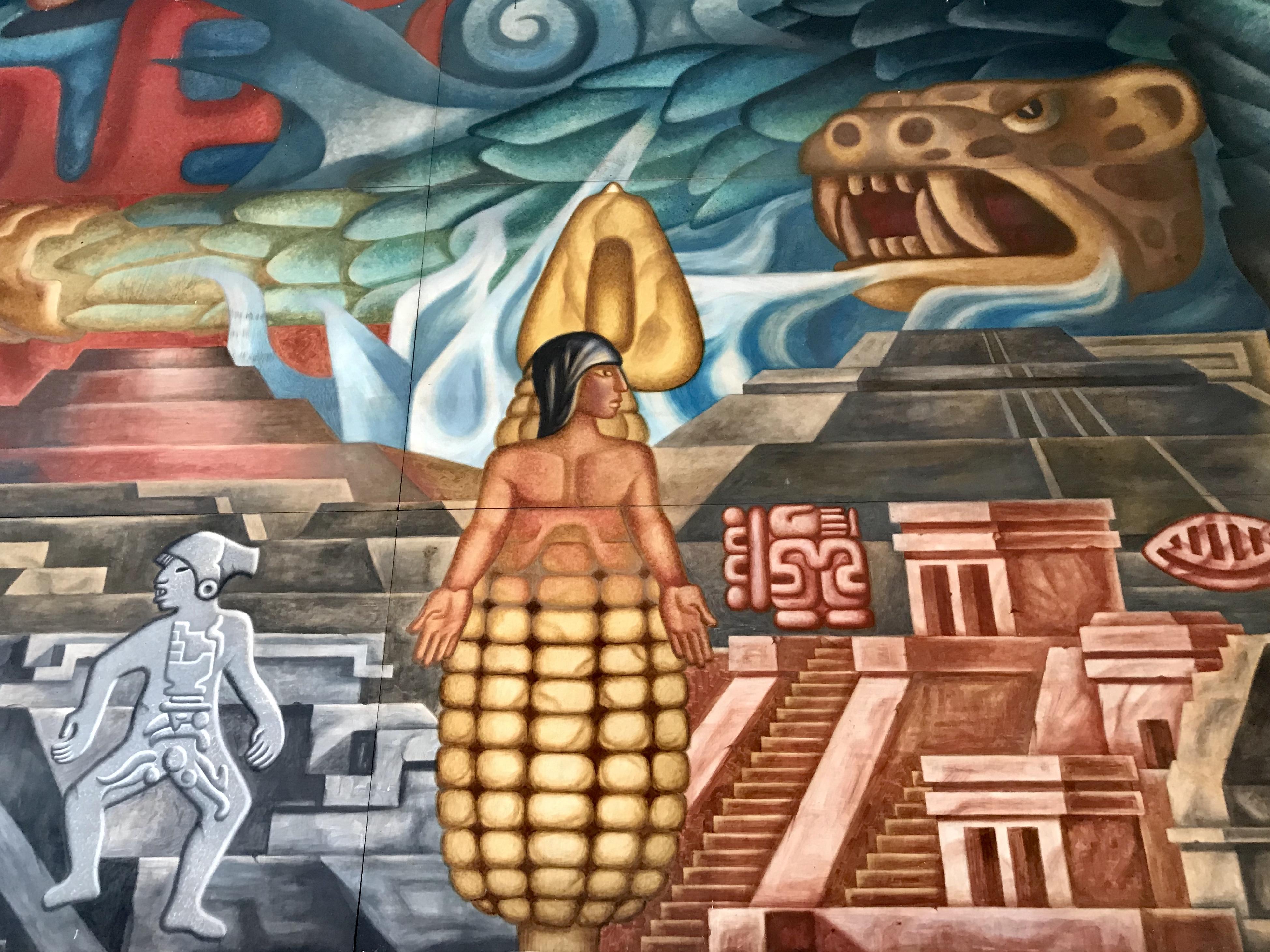 File Mural Casa Cultural Juan Rulfo Culturas Prehispanicas Jpg