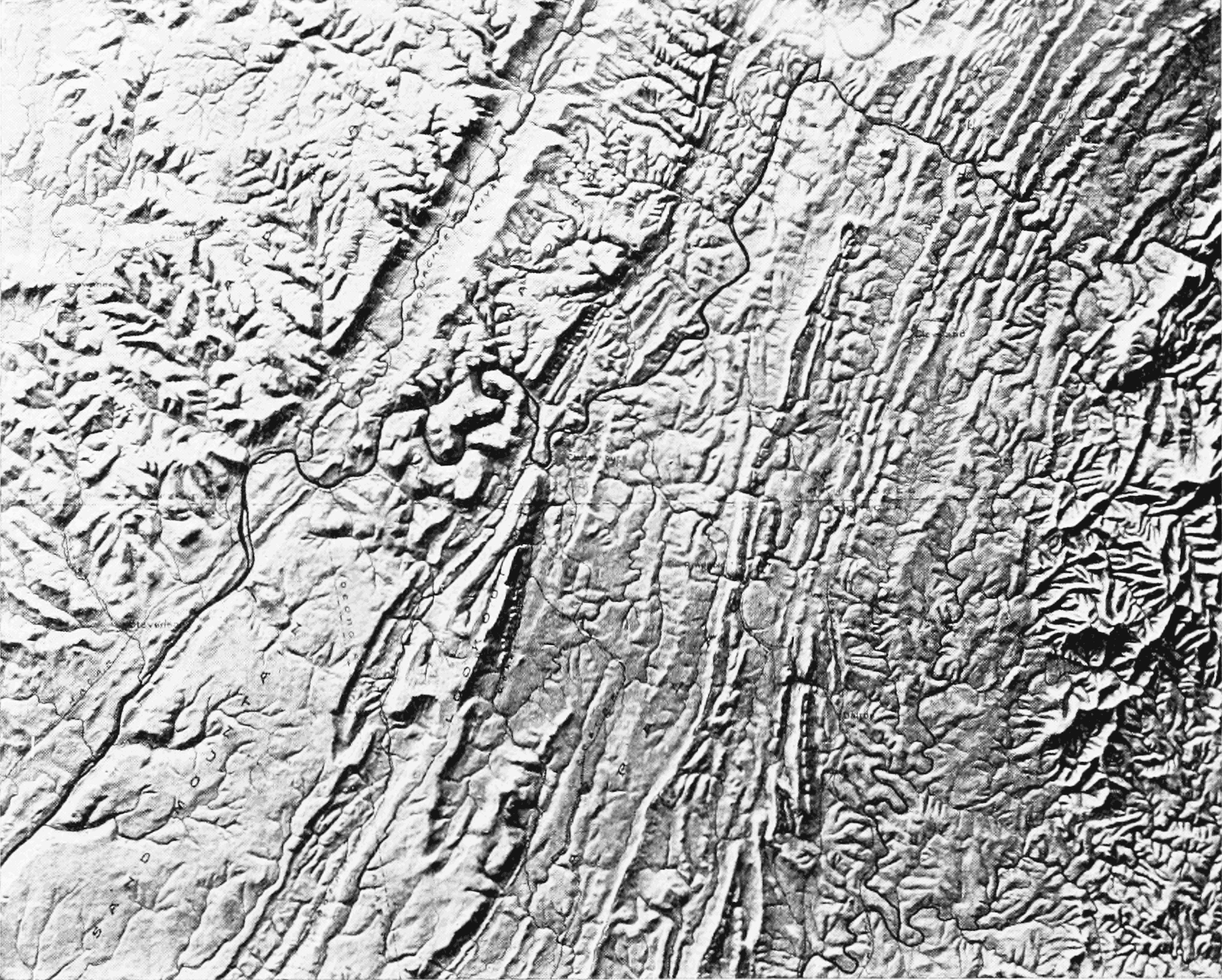 PSM V65 D154 Relief map of the chattanooga district.png