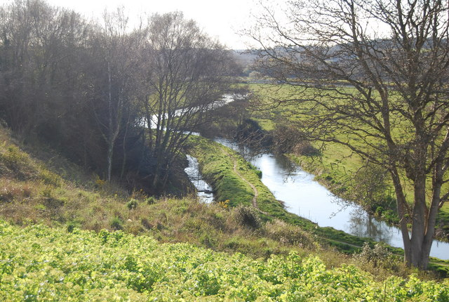 R. Piddle and flood plain - geograph.org.uk - 762941