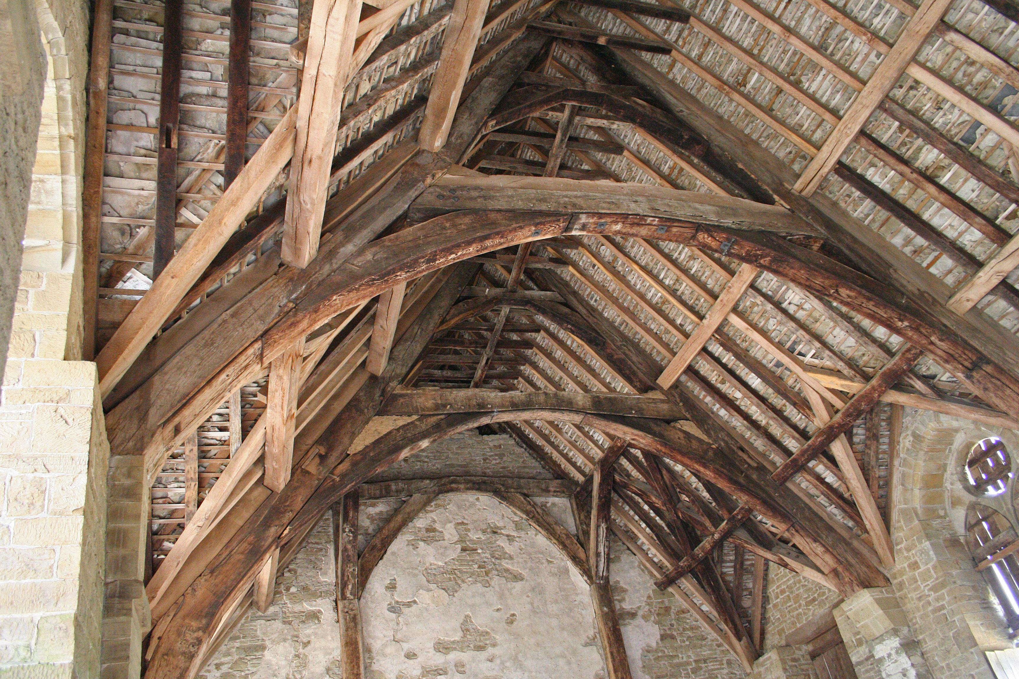 File Rafters In Stokesay Castle Great Hall Jpg Wikimedia