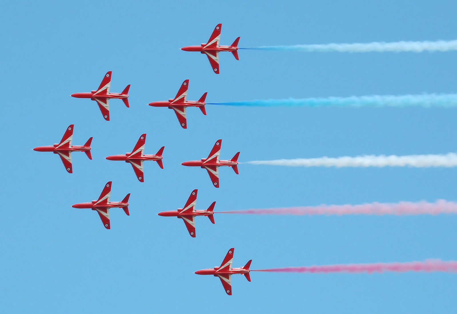 The Red Arrows in Apollo formation (2010)