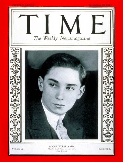 Roger Wolfe Kahn on the cover of Time magazine (September 19, 1927) Roger Wolfe Kahn on the cover of Time magazine (September 19, 1927).jpg